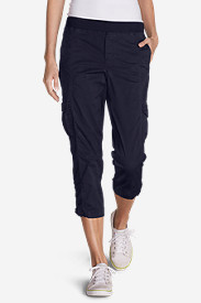 Stretch Capri Pants for Women: Women's Kick Back Twill Crop Pants