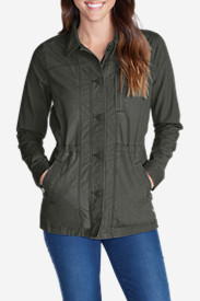 Green Petite Outerwear for Women: Women's Adventurer Ripstop Scouting Jacket