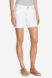 Women's Boyfriend Denim Shorts - White
