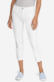 Curvy Jeans for Women: Women's Curvy Crop Jeans - White