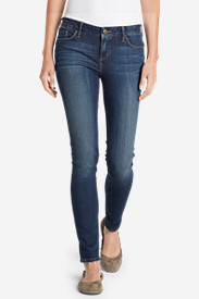 Blue Plus Size Jeans for Women: Women's Elysian Slim Straight Jeans - Slightly Curvy