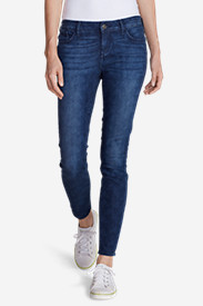Blue Plus Size Jeans for Women: Women's Elysian Skinny Jeans - Print