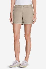 Poplin Shorts for Women: Women's Willit Poplin Shorts - Herringbone
