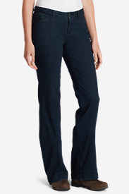 Blue Petite Yoga Pants for Women: Women's Elysian Trouser Jeans - Curvy