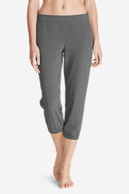 Polyester Pants for Women: Women's Myriad Crop Pants - Solid Heather