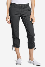 Stretch Capri Pants for Women: Women's Adventurer Ripstop Crop Cargo Pants