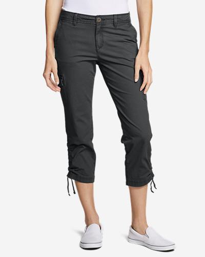 d11643c3f9 Women's Adventurer® Stretch Ripstop Crop Cargo Pants - Slightly Curvy    Eddie Bauer