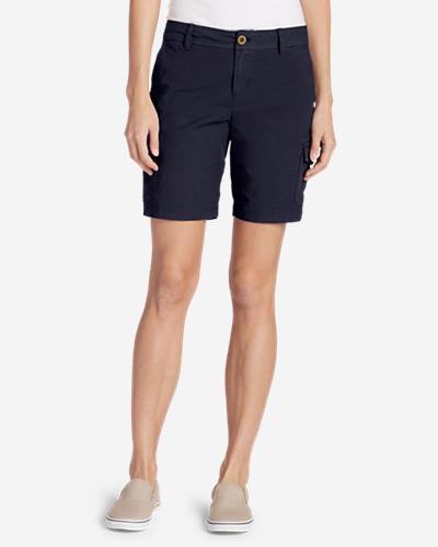 Women's Adventurer® Stretch Ripstop Cargo Shorts   Slightly Curvy by Eddie Bauer