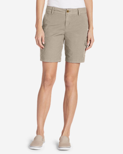 Women's Adventurer® Stretch Ripstop Cargo Shorts   Slightly Curvy by Eddie Bauer