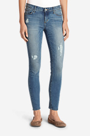 Blue Plus Size Jeans for Women: Women's Elysian Destroyed Skinny Jeans - Slightly Curvy