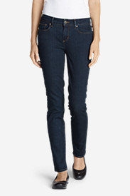 Slim Fit Jeans for Women: Women's Flex Slim Straight Jeans - Slightly Curvy