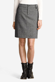 Women's Classic Wool-Blend Skirt - Tweed
