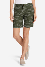 Women's Adventurer® Stretch Ripstop Cargo Shorts - Camo - Slightly Curvy
