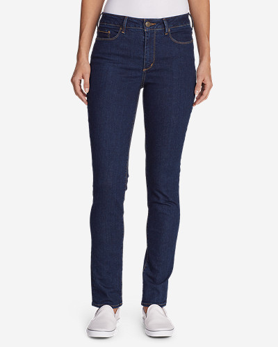 Women's Stay Shape® High Rise Slim Straight Jeans by Eddie Bauer