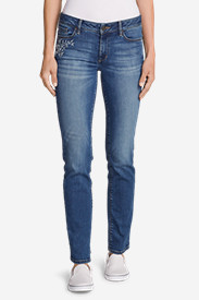Women's Elysian Slim Straight Embroidered Jeans