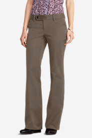 Women's Truly Straight StayShape® Twill Trousers