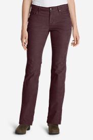 Bootcut Petite Pants for Women: Women's Curvy Bootcut Cord Pants