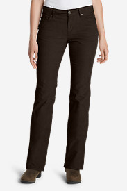 Petite Pants for Women: Women's Curvy Bootcut Cord Pants