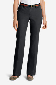 Gray Dress Pants for Women: Women's StayShape® Twill Trousers - Curvy