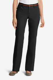 Petite Pants for Women: Women's StayShape® Twill Trousers - Curvy