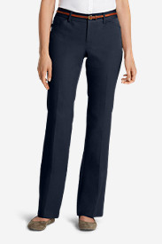Blue Dress Pants for Women: Women's StayShape® Twill Trousers - Curvy