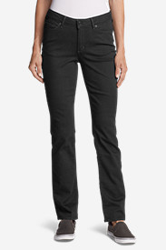 Women's StayShape® Straight Leg Black Jeans - Curvy