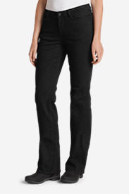 Jeans for Women: Women's StayShape Bootcut Black Jeans - Curvy