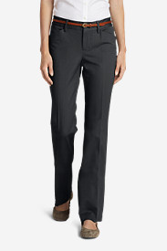 Gray Dress Pants for Women: Women's StayShape® Twill Trousers - Slightly Curvy