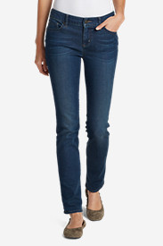 Skinny Petite Pants for Women: Women's Elysian Slim Straight Jeans - Slightly Curvy