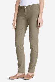 Slim Fit Jeans for Women: Women's Elysian Twill Slim Straight Jeans - Slightly Curvy