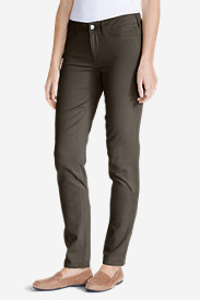 Straight Leg Plus Size Jeans for Women: Women's Elysian Twill Slim Straight Jeans - Slightly Curvy