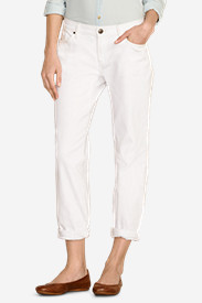 Women's Boyfriend Cropped Jeans - White