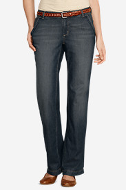 Women's Slightly Curvy Lightweight Denim Trousers