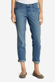Blue Plus Size Jeans for Women: Women's Boyfriend Jeans - Slim Leg
