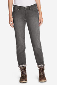 Denim Jeans for Women: Women's Boyfriend Flannel-Lined Jeans