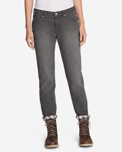 Flannel Jeans for Women: Women's Boyfriend Flannel-Lined Jeans