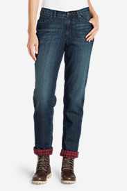 Insulated Jeans for Women: Women's Boyfriend Flannel-Lined Jeans