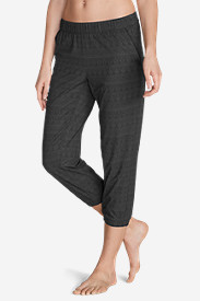 Elastic Waist Pants for Women: Women's Myriad Crop Pants - Print