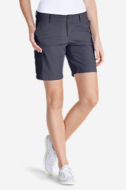 Blue Petite Shorts for Women: Women's Slightly Curvy Adventurer Ripstop 8' Cargo Shorts