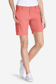 Orange Plus Size Shorts for Women: Women's Slightly Curvy Adventurer Ripstop 8' Cargo Shorts