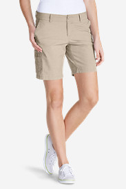 White Petite Shorts for Women: Women's Slightly Curvy Adventurer® Ripstop 8' Cargo Shorts