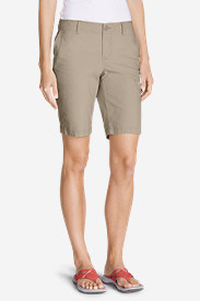White Petite Shorts for Women: Women's Slightly Curvy Adventurer® Ripstop Bermuda Shorts