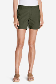 Green Shorts for Women: Women's Adventurer Ripstop Slightly Curvy Embroidered Shorts