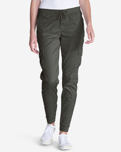 Women's Kick Back Twill Jogger Pants by Eddie Bauer