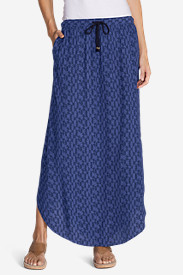 Blue Petite Skirts for Women: Women's Four Winds Maxi Skirt