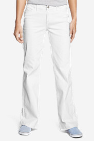 Women's Curvy Denim Trousers - White