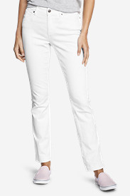 Straight Leg Pants for Women: Women's StayShape Straight Leg Jeans - Slightly Curvy