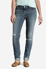 Women's Elysian Destroyed Slim Straight Jeans