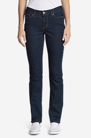 Curvy Jeans for Women: Women's StayShape Straight Leg Jeans - Curvy