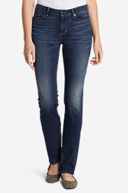 Blue Plus Size Jeans for Women: Women's StayShape® Straight Leg Jeans - Curvy